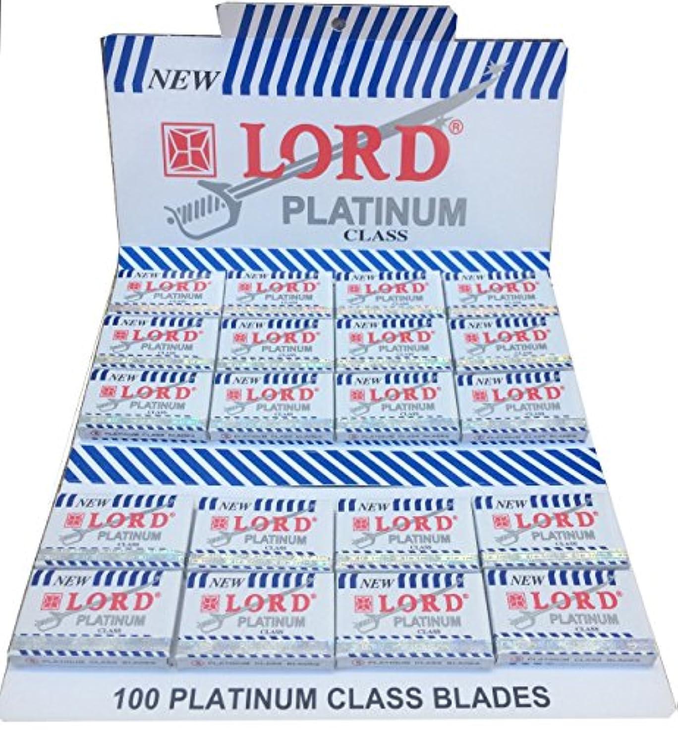 ブラシ抑圧する甥Lord Platinum 両刃替刃 100枚入り(5枚入り20 個セット)【並行輸入品】