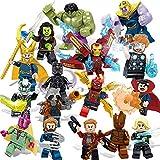 16のおもちゃ、積み木アベンジャーズ おもちゃ子供へのプレゼントに一番ふさわしく、とても安全、高さは5センチ、子供へのプレゼント 0318