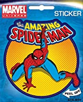 Spider-Man on Orange Marvel Comics Die Cut Vinyl Sticker Decal