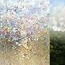 MAXYOYO 3D窓用フィルム 目隠しシート ガラスシール ステンドグラス プライバシーガラスフィルム 断熱/紫外線カット 結露防止シート おしゃれ 無接着剤 再利用可能 (万華鏡90 200cm)