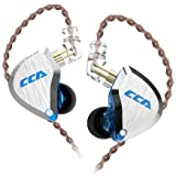 CCA C12 in-Ear Monitors, 5BA+1DD Hybrid HiFi Stereo Noise Isolating IEM Wired Earphones/Earbuds/Headphones with Detachable Ta