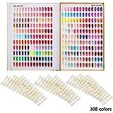カラーチャート ブック ネイルマニキュアカラー色見本 120色/216色/308色 サンプル帳/色見本帳 ゴールデン (308)