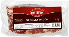 Tradition Sliced Streaky Bacon, 300g - Chilled