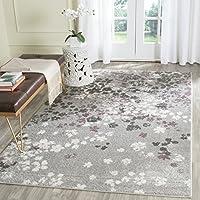 Safavieh Adirondack Collection ADR115M Light Grey and Purple Contemporary Floral Area Rug (5'1 x 7'6) 【Creative Arts】 [並行輸入品]