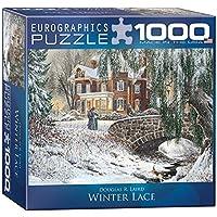 EuroGraphics Winter Lace Puzzle (1000-Piece) [並行輸入品]