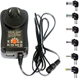 MeetUs 30W Universal 100v-220V Charger Adapter Switching Power Supply with 6 Selectable Adapter Tips & Micro USB Plug, Suitab