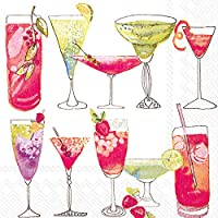 Ideal Home Range 20 Count Sweet White Paper Cocktail Napkins