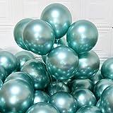 Party Balloons 12inch 50 Pcs Latex Metallic Balloons Chrome Balloons Birthday Balloons Shiny Balloons Party Decoration Weddin