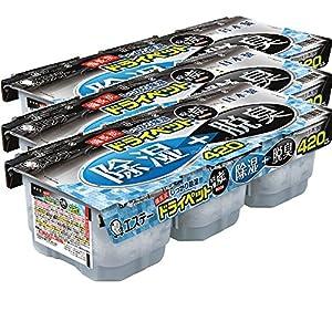 【まとめ買い】 備長炭ドライペット 除湿剤 使い捨てタイプ (420ml×3個パック)×3個
