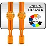 JYXETOV 結ばない靴紐、伸縮性靴ひも、追加の贈り物を(9色で、1足分、2足分または3足分を自由に選択できる)お子様、大人、高齢者、カジュアルシューズ、運動靴、ブーツなどに適しています