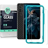 Ibywind Screen Protetor for Honor 20 [Pack of 2] with Camera Lens Tempered Glass Protector,Back Carbon Fiber Skin Protector,I