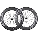 ICAN 86mm Carbon Time Trial Wheelset Triathlon Aero Road Bike Clincher Tubeless Ready 6 Pawls Hub 1920g (Standard Wheelset