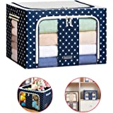 Clothes storage,Storage Bins Boxes, Foldable Stackable Container Organizer Basket Set with Large Clear Window & Carry Handles