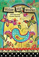 lang color my world 2016 monthly pocket planner by lisa kaus january