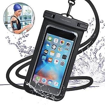 強化版 防水ケース スマホ用 【IPX8認定 指紋認証】防水携帯ケース タッチ可 水中撮影 海水浴 水泳など適用