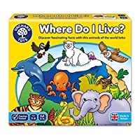 """Orchard Toys""""Where Do I Live"""" Lotto Game"""