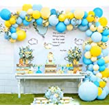 Balloon Garland Arch Kit Blue Yellow Balloons Bouquet Kit Baby Shower Balloons Backdrop Background Weeding Bachelorette Birth