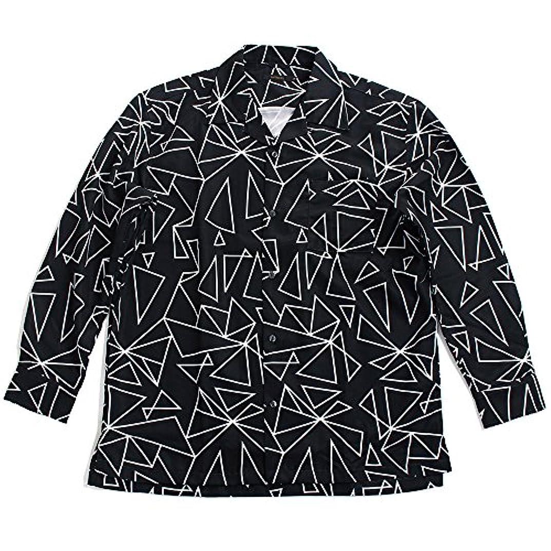 傘ファンネルウェブスパイダープログラムQUINTETTO(クインテット) 幾何学柄 オープンシャツ 開襟シャツ 幾何学模様 長袖シャツ メンズ カジュアル アメカジ 01-78205