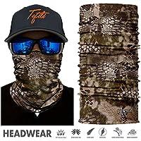 TEFITI Camo Face Shields Sun Mask Mutifunctional Headwear Seamless Tube Bandana Headbands for Men & Women Hiking Biking Running Fishing Hunting