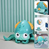 Bath Toys for Toddler 1-3 Years, Crawling Octopus,Floating Wind Up Bath Toy,Walking Amphibious Octopus Interactive Bath Gift,