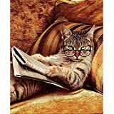 LoveTheFamily 数字油絵 数字キット塗り絵 手塗り DIY絵 デジタル油絵 40x50 cm ホーム オフィス装飾 - キャットシリーズ