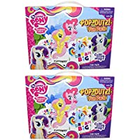 Set of 2 My Little pony Pop-Outz Fun Packs 24 Colouring Boards - 20 Washable Markers - Two 32 Page Fun Pads - 50 Stickers - Colour, Pop Out and Play Perfect for any My Little Pony Fan