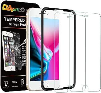 OAproda iPhone8 / 7 / 6 / 6s 用 ガラスフィルム 液晶保護強化ガラス【2枚セット/ ガイド枠付き】4.7inch