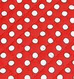 コスモテキスタイル ドットキルティング生地 巾110cm×6m切売カット 赤 AQ88311-12M-6M ナイロン100% ウェディング・コスプレ材料 パニエ 手芸・ハンドメイド用品
