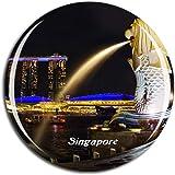 Weekino シンガポールマーライオン冷蔵庫マグネット3Dクリスタルガラス観光都市旅行お土産コレクションギフト強い冷蔵庫ステッカー