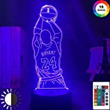 Led Night Light Kobe Jump Shoot Figure Back View Bedroom Decor Nightlight Desk 3D Lamp Dropshipping Kobe Bryant Memorial Gift