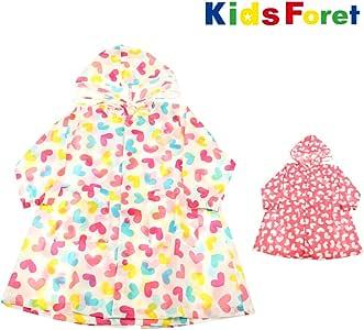 【子供服】 Kids Foret (キッズフォーレ) リフレクター付ハート柄レインコート S~L B81883