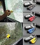 【 押し当てるだけでガラスを粉砕 】 ガラスクラッシャー シートベルトカッター 内蔵 緊急脱出 緊急ツール キーホルダー (カラー:ランダム) EK-GLASS-CR