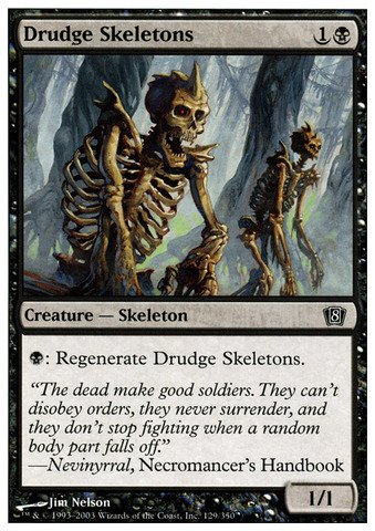 Magic: the Gathering - Drudge Skeletons - Eighth Edition - Foil