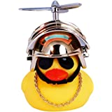 Rubber Duck Cute Toy Car Ornaments Yellow Duck Car Dashboard Decorations with Propeller Helmet for Adults, Kids, Women, Men