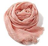 大判ストール シャンブレー 2色使い ビスコース ガーゼ 柔らか ふんわり UV対策 冷房対策 男女兼用 (ピンク)