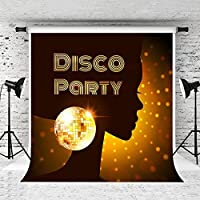 Kate 8x8ft 70s Disco Photography Backdrop for Party Photo Studio Glitter Stage Light Background Prop Customized [並行輸入品]