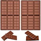 Pack of 2 Chocolate Bar Molds - Silicone Break Apart Protein and Engery Bar Candy Chocolate Molds