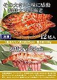 特大天然海老12尾入【長さ約25cm】 【冷凍】 エビフライ 鉄板焼き 海鮮 バーベキューにおすすめ。