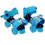 YUANJ ローラースケート 四輪 子供用 着脱/サイズ調節可能 適合靴サイズ:19cm〜25cm 靴に直接取付 初心者…