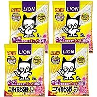 ニオイをとる砂 猫砂 フローラルソープの香り 5L×4袋(ケース販売)