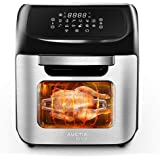 12L Digital Air Fryer Oven, 90% Less-Oil Fryers, 12 in 1 Function Reheat/Preheat/Defrost/French Fry/Rotisserie/Baking/Dehydra