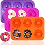 3 Pack Silicone Baking Tray Doughnut Maker Moulds, FineGood Cupcake Tray Silicone Muffin Molds Donut Pan Bagel Making Mould T