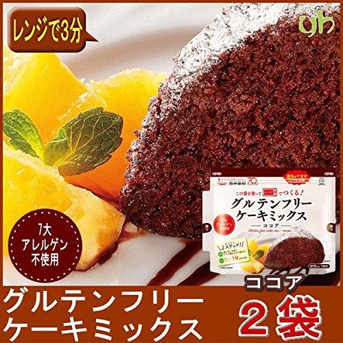[2袋] 国内産(九州)米粉使用 この袋を使ってつくるケーキ グルテンフリー ケーキミックス(ココア)