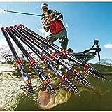YOKONO 釣り竿 海釣り 釣りセット 炭素伸縮釣竿 スピニングロッド フィッシングロッド 金色 超軽量 伸縮可能 携帯型 海釣り 堤防釣り 初心者釣り5種類サイズ 1.8m, 2.1m, 2.4m, 2.7m, 3.0m (2.7)