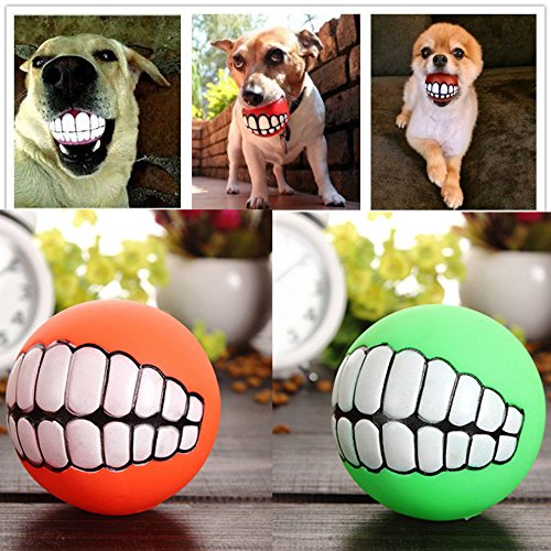 ペット 子犬 犬 面白い ボール 歯 シリコン グッズ かむ 音 犬 遊び の おもちゃ