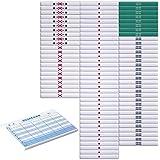 麻雀白点棒フルセット + 8段100枚綴りスコア記録帳【得点帳】1冊付