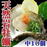岩ガキ(岩牡蠣) 天然 生食 山形県産 中10個 約2㎏ カラ割り お中元 牡蠣 殻付き