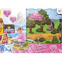 ディズニー プリンセス ミニカー付 プレイマット (シンデレラ) パズル マット ジョイント 雑貨 Princess グッズ 子供部屋 赤ちゃん 幼児 プレゼント ギフト