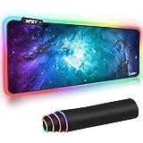 NPET マウスパッド 超大型ゲーミングマウスパッド 12モード 9色の発光色 RGB 虹モード 滑り止め USBケーブ…