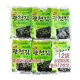 韓国のり 光天のり 12パック×10袋 1BOX ごま油海苔 韓国産 人気商品 韓国味付けのり